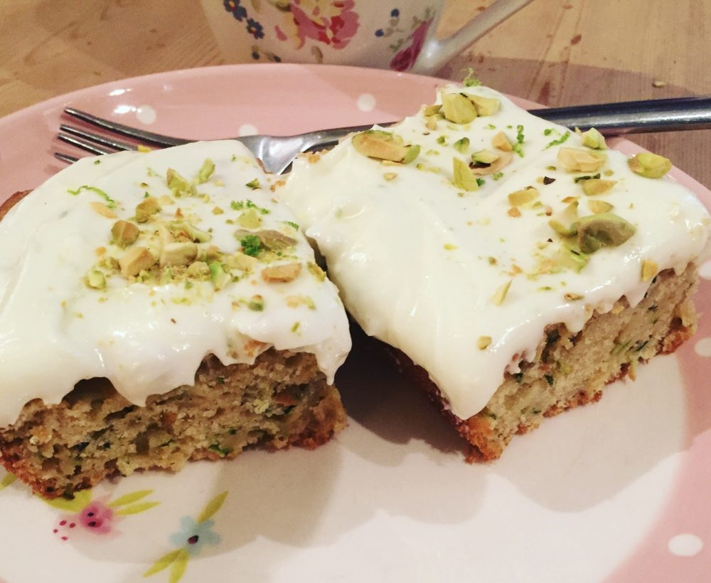 Courgette, Lime and Pistachio Cake.